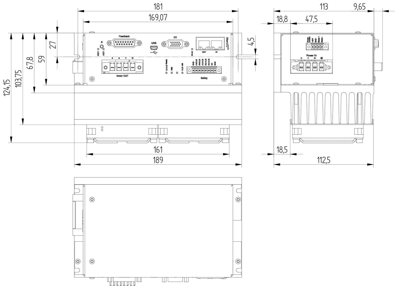 Mds Ac Servo Drive Brunner Motor Wiring Diagram Dimensions