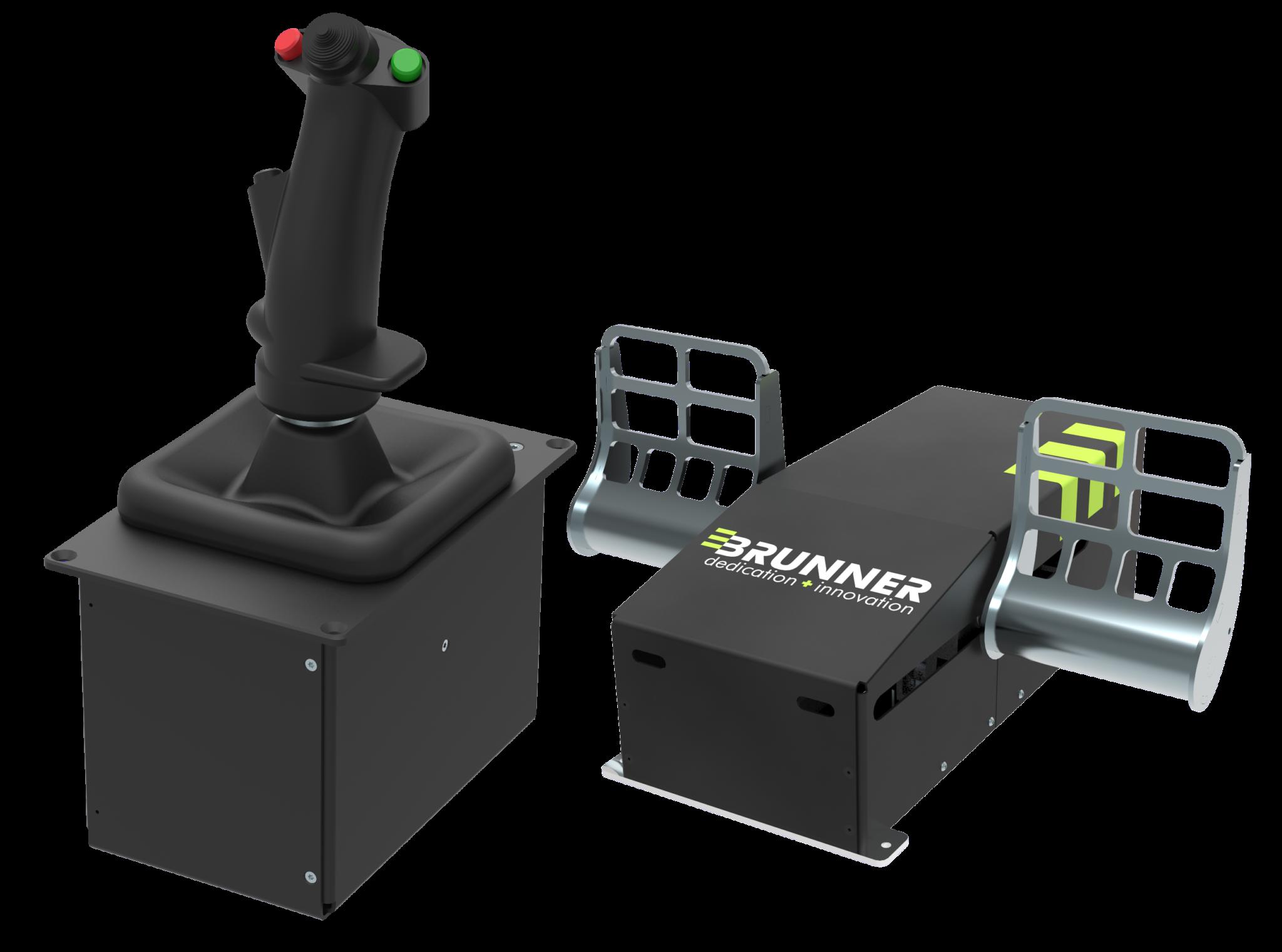 CLS-E Rudder & CLS-E Joystick BRUNNER JET including Grip